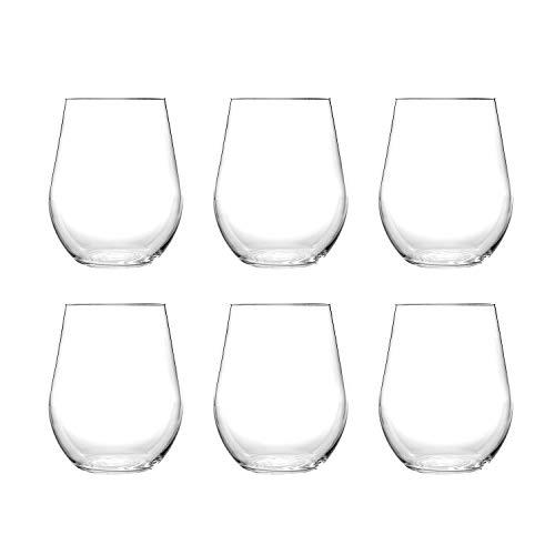Stemless Unbreakable 20ounce Crystal Clear Acrylic Plastic Wine...