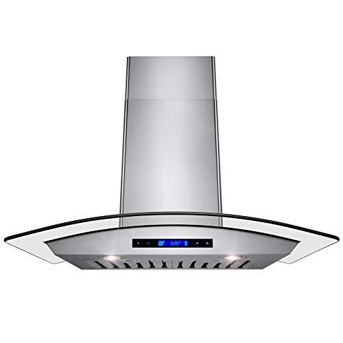 """AKDY Wall Mount Range Hood –36"""" Stainless-Steel Hood Fan for Kitchen – 4-Speed Professional..."""