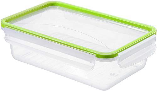 Rotho Clic and Lock Frischhaltedose 1.5 l, Kunststoff (BPA-frei), transparent / grün, 1.5 Liter (24 x 16 x 7 cm)