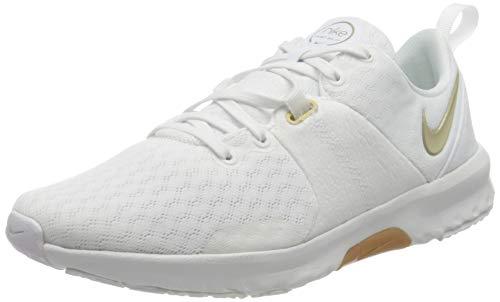 Nike Wmns City Trainer 3, Zapatillas Deportivas Mujer, White Mtlc Gold Star Summit White Sesame Gum Lt Brown, 38.5 EU