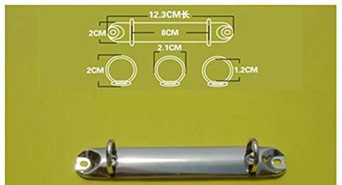 Heng Metal Binders Gold Sliver Bestandsmap Spiraalbindclips Voor Scrapbook Album 2-Hole Notebook Binder Kantoorbenodigdheden, A716-20 sliver