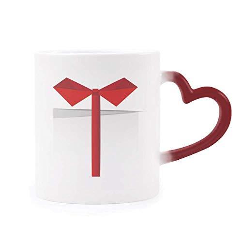 DIYthinker Weiß Abstrakte Origami Morphing Becher-Hitze-Sensitive rotes Herz-Cup Mehrfarbig