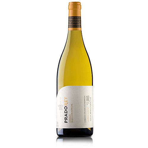 PRADOREY Verdejo Auslese- Weißwein - Spanischer Wein-Rueda-100% Verdejo-Weinlese in der Nacht-Boreal-System-9Monate Ausbau auf der Feinhefe-3 Monate in Fässern aus französischer Eiche-1Flasche-0,75 L