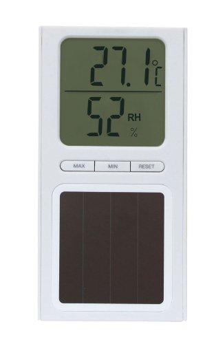 Koch Solarthermometer mit Hygrometer, weiß