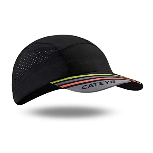 CATEYE Men's Cycling Cap Breathable Sun Caps Comfortable Sweat Wicking Helmet Liner Hat Black