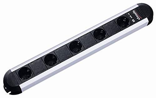 Bachmann 331.032 Primo Stekkerdoos met 5 x geaarde contactdozen, snoer 1,75 m, zwart