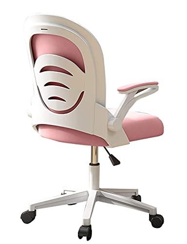 N&O Renovation House Schreibtischstuhl Computer Ergonomischer Netzstuhl PC Drehbarer Schreibtisch Bürostuhl mit verstellbarem Dreh-Roll- und hochklappbaren Armen für Frauen Erwachsene