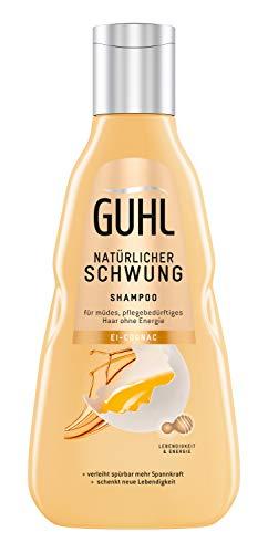 Guhl Natürlicher Schwung Shampoo - mit Ei und Cognac - enthält Proteine und Lecithin - stärkt Das Haar - 250 ml