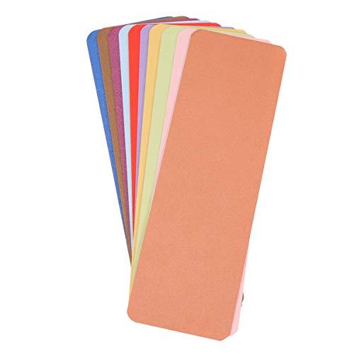 STOBOK mini carte kraft carte cartoncino segnalibro carta bianca confezione colorata da 100, colori assortiti (casuali)