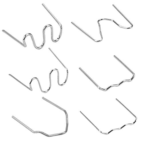 Iriisy 600pcs Kit 0,8mm 0,6mm 6 formas Grapa de soldador Caliente para Coche de Parachoques de plástico reparación soportes de acero inoxidable soldadura Auto