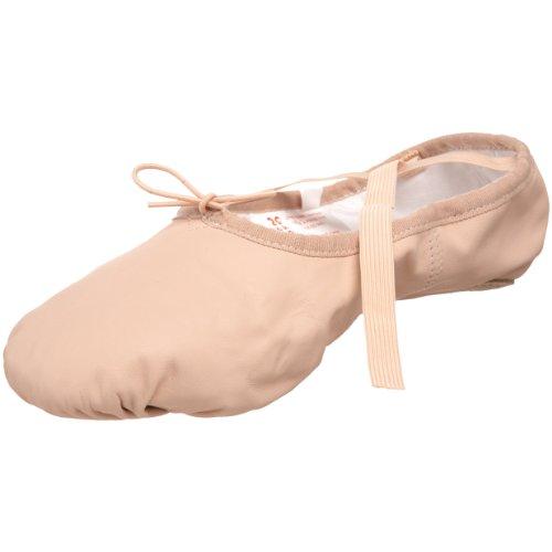 Sansha unisex-adult Pro 1 Leather Ballet Slipper,Pink,14 W US Women