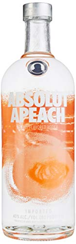 Absolut Apeach – Absolut Vodka mit asiatischem Pfirsich – Absolute Reinheit und einzigartiger Geschmack in ikonischer Apothekerflasche – 1 x 1 L