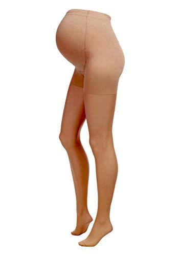 Herzmutter 20 DEN Collant Premaman - Collant Maternita - Collant per Futura Mamma - Calze Maternità Comode-Elasticizzate - Nero-Beige-Pelle - 1200 (M/L, Beige-Scuro)