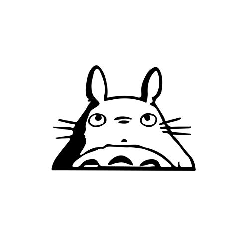 """AGL Baby on Board Sticker [6]""""- Totoro Head Car Window Decal Black Color Decal Sign for Cars Windows, Doors and Bumpers"""