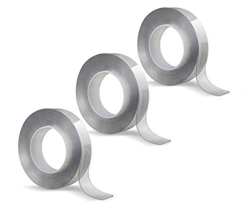 Hammersmith Monster Tape, 3 Stück, Nano-Grip-Technologie - Mikroskopisch kleine Saugnäpfe sorgen für monsterstarken Halt, wiederverwendbar, wasser- und wetterfest, funktioniert ohne Klebstoff
