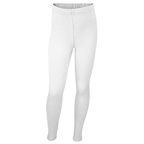 TupTam Mädchen Leggings Lang Blickdicht Baumwolle, Farbe: Weiß, Größe: 116