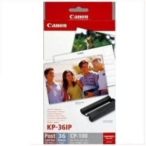 CANON Set Farbtintenpatrone + Fotopapier 10 x 15 cm - 36 Blatt (KP-36IP) für Canon SELPHY CP- 100, 200, 220, 300, 330, 400, 500, 510, 600, 700, 710