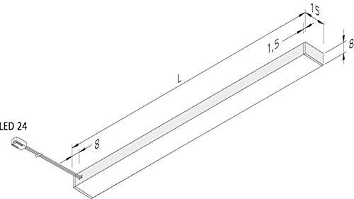 Hera LED-Unterbauleuchte 61001427102 450mm wws Decken-/Wandleuchte 4051268162142