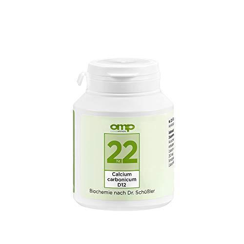 Schüssler Salz Nr. 22 Calcium carbonicum D12 | 400 Tabletten | Das Salz für das vegetative Nervensystem | glutenfrei