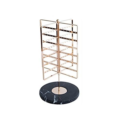 Colgador de joyas Pantalla de joyas Organizador bastidor, 4 filas Soporte de pantalla de metal Soporte para Pendientes Pendientes Tachuelos de almacenamiento Organizador de joyas ( Color : Black )
