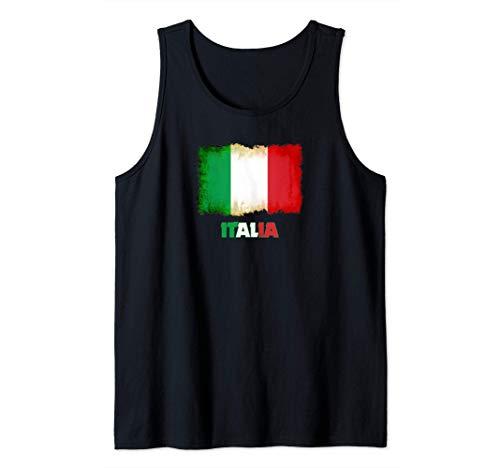 Bandiera italiana vintage Retro Italia Banner Ensign Italia Canotta