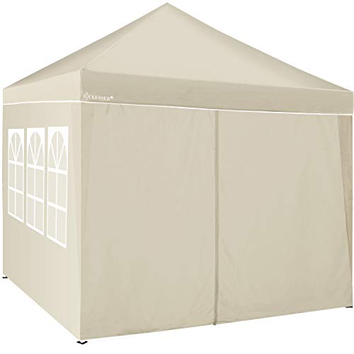 KESSER® 2X Seitenwand Beige für Pavillon 3x3m - Faltpavillon Pop Up | klappbar | platzsparend | verstaubar