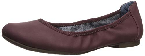 Dr. Scholl's Shoes Women's Feel Good Ballet Flat, Bordo Red Smooth, 7 M US