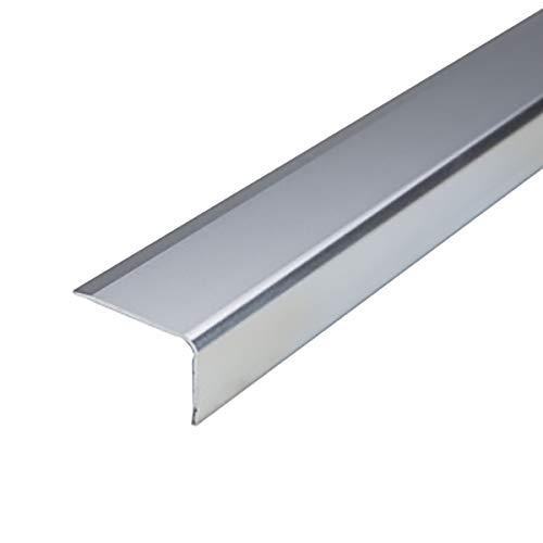 KDOAE Nariz Antideslizante de Escalera 0.9M Longitud L Forma L de Aluminio Stair Anti resbalón Rose 35x20mm ángulo Escalera de Borde Perfiles 3 PCS Adecuado para Escaleras