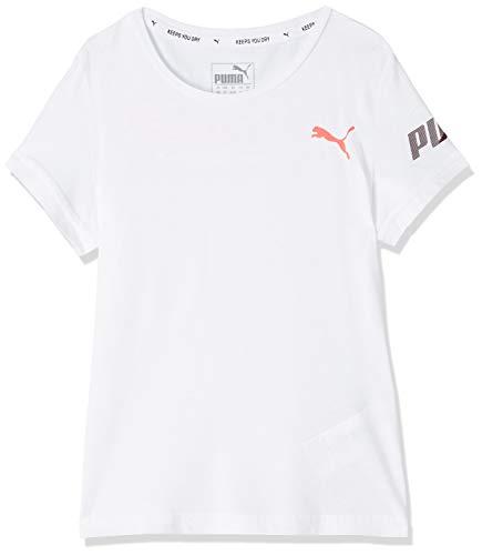 PUMA Mädchen Modern Sports G T-shirt Modern Sports Tee G, Puma White, 7-8 Y (Herstellergröße: 7-8 Y)