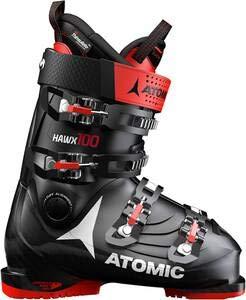 Atomic - Scarponi da sci per uomo Hawx 2.0 100', nero e rosso 701., 28 EU