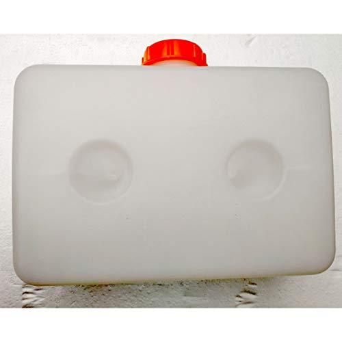 Plastic Brandstof Tank Draagbare Multifunctionele Benzine Olie Opbergdoos Universeel Voor Auto Vrachtwagen Boot Air Parking Heater - Wit - 5L