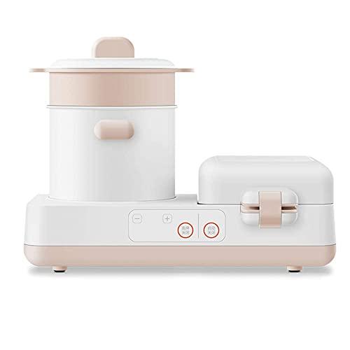 Máquina De Desayuno Máquina De Desayuno Multifuncional Para Hacer Sándwiches 4 En 1, Máquina De Tostadas Con Calefacción Multifunción Para El Hogar Pequeño, Máquina Para Freír / Blanco / 120