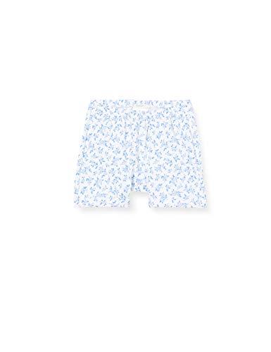 United Colors of Benetton Baby-Mädchen Shorts, Weiß (Bianco/Blu 64t), 80/86 (Herstellergröße: 82)