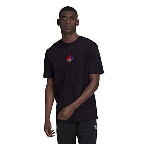 adidas Originals Camiseta 3D Trefoil para hombre - negro - X-Small