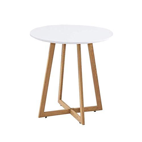 N/Z Table d'appoint pour équipement de Vie Table de Chevet Moderne Table Basse d'appoint Ronde pour Salon, Chambre à Coucher, Balcon, Famille et Bureau (23,6 po x 27,6 po) 60x70 cm