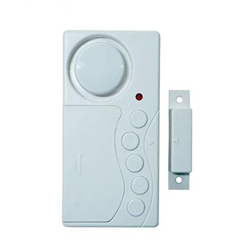 WWWANG Cierre la Puerta del Temporizador Puerta del refrigerador Ventana de Aviso de Alarma magnética Recordatorio de Hogares Timbre de la Puerta Almacenamiento pequeño, práctico y portátil