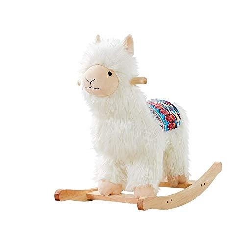 Buy Bargain LXDWJ Birthday Gift Wood Rocking Horse Cute Rocking Chair Baby Sleeping Tool 12 Months C...