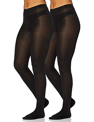 Iris & Lilly by Wolford Damen Strümpfe, 2er-Pack, Schwarz (Black), XL, Label: XL