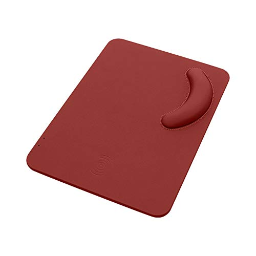 XuuSHA Wireless Charger Case Mouse Mouse-Pad Ergonomic Wireless Charging Mouse Pad Wireless Charger Wrist Wrist Pad Technology Laptop Table Mousemats (Color : B)