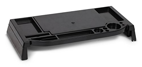 Lavolta–Supporto per Monitor LCD con Organizer per cancelleria, colore: nero