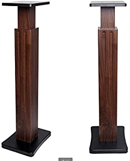 Stands Speaker Stand Wooden Adjustable Floor Stand Speaker Stand Home Theater With Movable Lifting Frame (Color : Brown, S...