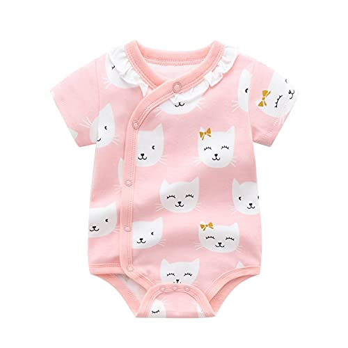FURONGWANG6777BB Mono de manga corta para bebé recién nacido, diseño de fresa y niña, lindo mono (color: 03, tamaño: 66 cm)