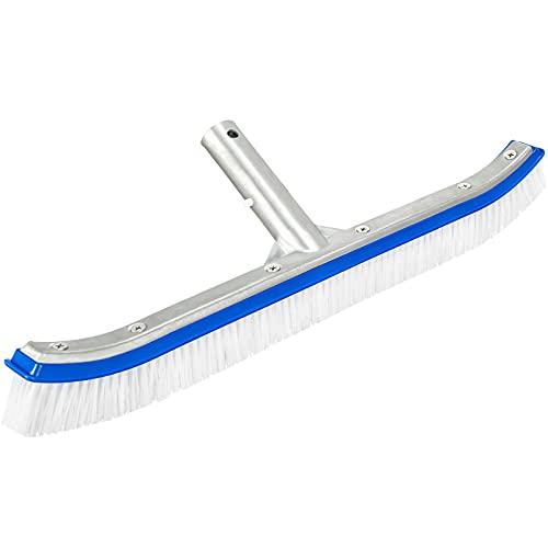 """Cepillos para Piscinas, Tencoz Pool Brush Aluminio Cepillo con Clips Ez y Cerdas Fiables para Limpiar Fondo y Paredes de Piscina, 45CM / 18"""""""
