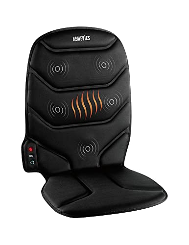 HoMedics Thera-P Heated Vibrating Comfort Massage Cushion with 5 Vibrating Motors and Soothing Heat for Aching or Sore Back