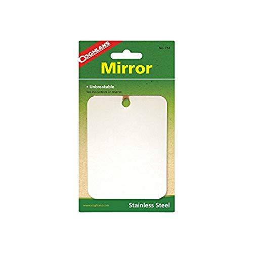 Coghlan's - Miroir - Incassable - 8x11 cm - Acier inoxydable