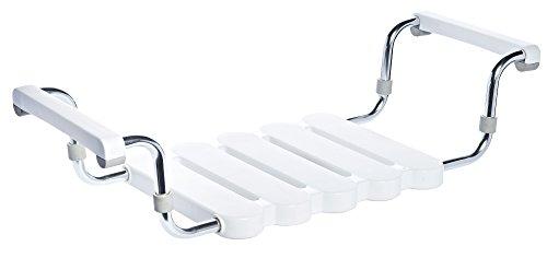RIDDER Assistent A0040011 Badewannensitz, Wannensitz, weiß mit poliertem Gestell