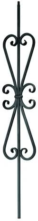 Indital PC28-1-0004 Powder Coated Wrought Stai for Max Popular standard 52% OFF Iron Baluster