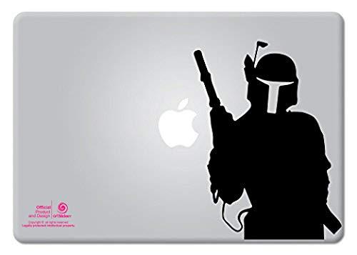 Artstickers. Pegatina para portatil de 11' y 13' Pulgadas. Diseño Boba Fett Star Wars. Adhesivo para Apple MacBook Pro Air Mac Portátil. Color Negro. Regalo Spilart, Marca Registrada