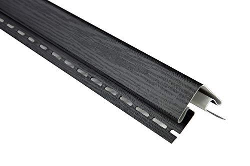 Außenecke für Kunststoffpaneele   anthrazit   Dachkasten   umweltresistent   PVC   außen   Verkleidung   Soffit   Zubehör   200 x 7 cm