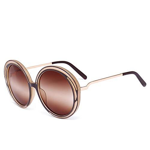 XIEYU Rundgläser Sonnenbrillen Persönlichkeit Farbverlauf Linsen Euro